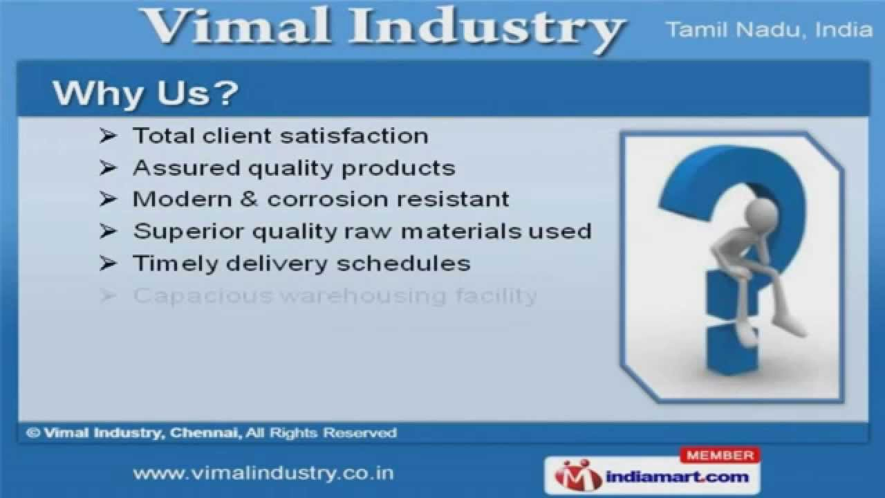 Steel Kitchen Equipment by Vimal Industry, Chennai, Chennai - YouTube