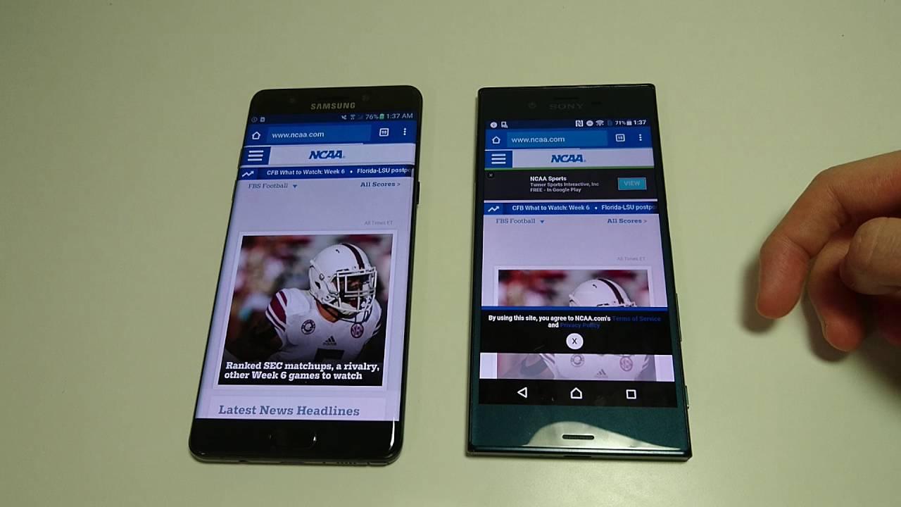 Xperia XZ vs Galaxy Note 7 Speed Test, AnTuTu, Camera ...