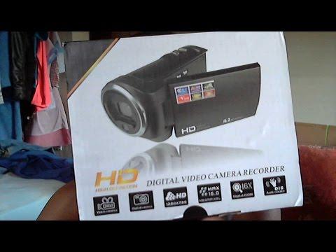 Unboxing HD Digital Video Camrea Recorder 16 MegaPixel DIS Anti shake 16X Zoom