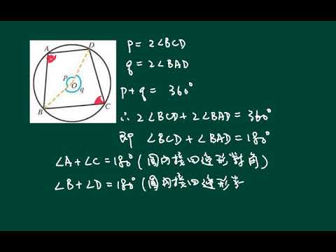 中五數學_上學期_圓的基本性質_圓內接四邊形的對角 - YouTube
