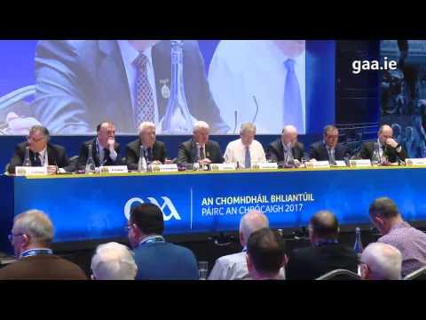 Watch complete coverage of Day 2 of An Chomhdháil Bhliantúil 2017 - GAA Congress 2017