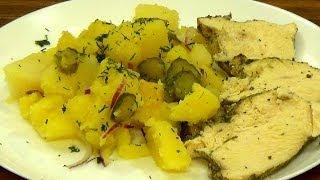 Картофель и мясо, запеченные в горшочках