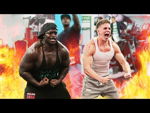 Joe Weller Vs Akinfenwa | GYM CHALLENGE