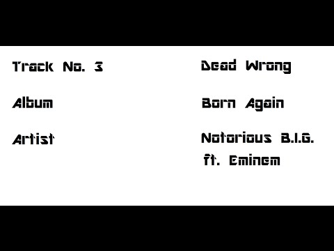 03   Dead Wrong Feat  Eminem lyrics