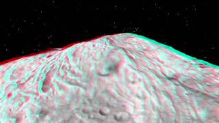 Vesta planetoid in real incredible 3D view by NASA space probe DAWN