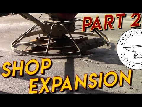 Affordable Concrete Floors - Shop Expansion Part 2