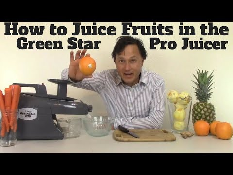 How to Juice Fruits in the Green Star Pro Twin Gear Juicer