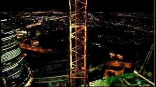 Ночная Москва Сити с высоты башенного крана(http://mymoscowcity.com., 2015-01-02T08:13:39.000Z)