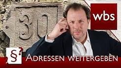 Darf ich Adressen weitergeben? | Rechtsanwalt Christian Solmecke