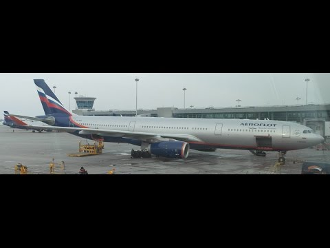 Aeroflot Airbus A330-300 takeoff from Sheremetyevo International Airport (Moscow (SVO))