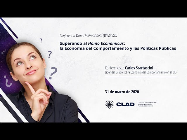 #WebinarCLAD La economía del comportamiento y las políticas públicas