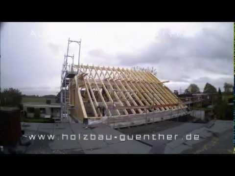 Holzrahmenbau Aufstockung Im Zeitraffer Holzbau Gunther Youtube