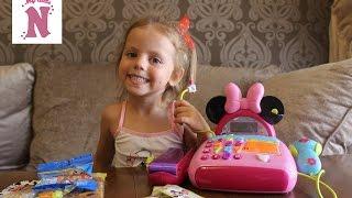Отдых в Одессе снимаем квартиру играем кассовым аппаратом Минни Маус Дисней Disney Minnie Mouse toys