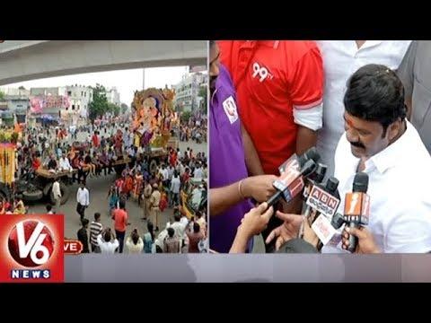 Talasani Srinivas Yadav Speaks On Ganesh Nimajjanam Arrangements | Ganesh Immersion 2018 | V6 News