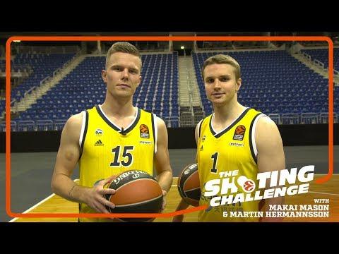 Shooting Challenge: Makai Mason & Martin Hermannsson, ALBA Berlin