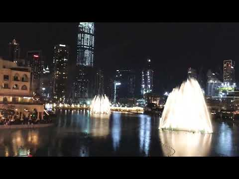 Lady Gaga,  I will never love again, The Dubai Fountain