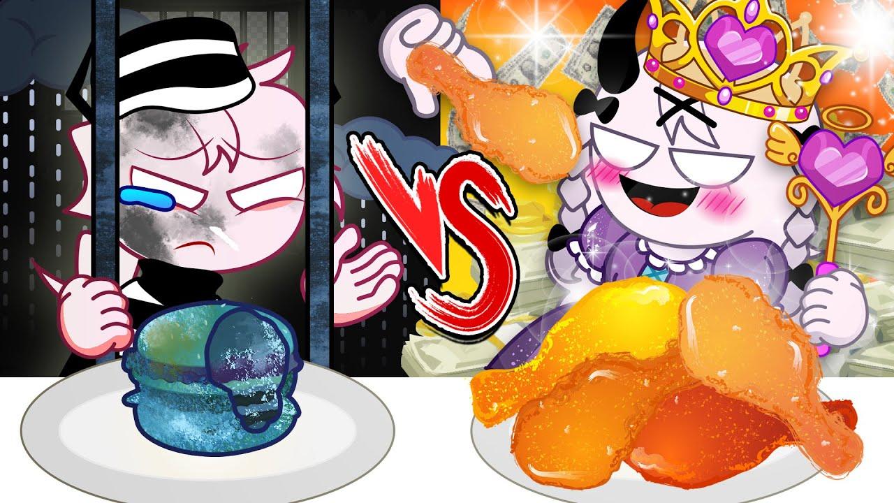 RICH FOOD VS POOR FOOD CHALLENGE! - Friday Night Funkin (feat. Sel,Rasazy) ANIMATION MUKBANG