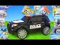 الحفار, الجرار, سيارة الإطفاء, شاحنات القمامة و سيارات الشرطة ومجموعة Police Cars Toys