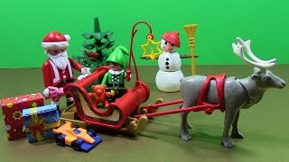 Playmobil Christmas With Santa Sleigh Reindeer Elf Snowman Toys