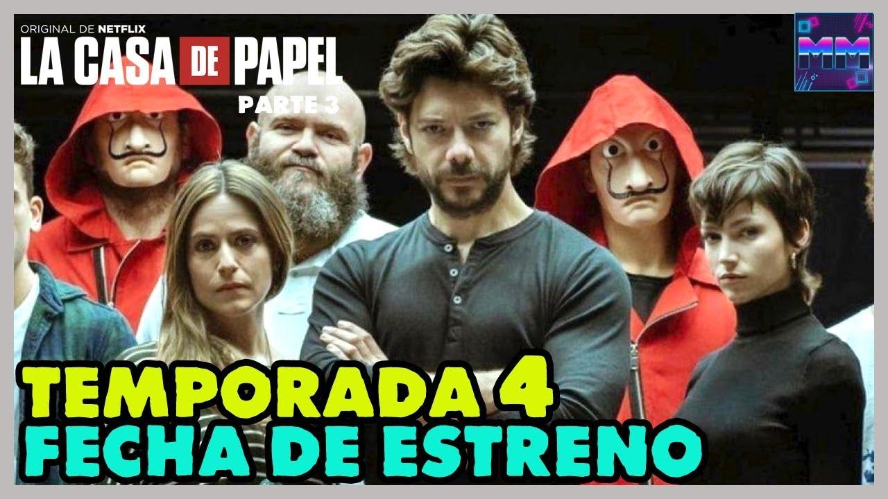 EL Director Confirma la Fecha de Estreno de LA CASA DE PAPEL TEMPORADA 4 - (Nuevos Personajes y Más)