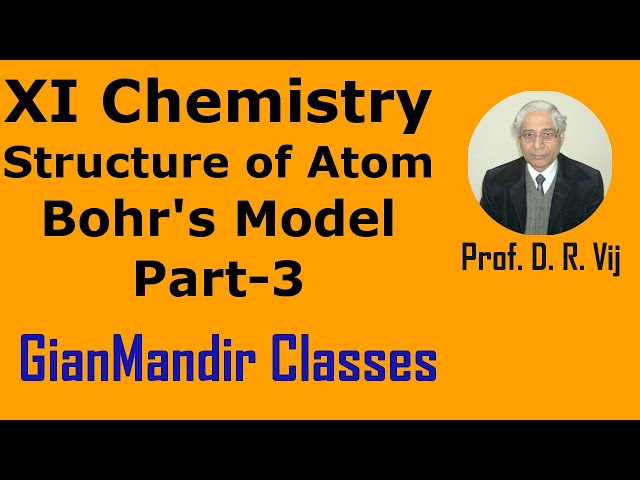 XI Chemistry - Structure of Atom - Bohr's Model Part-3 by Ruchi Mam