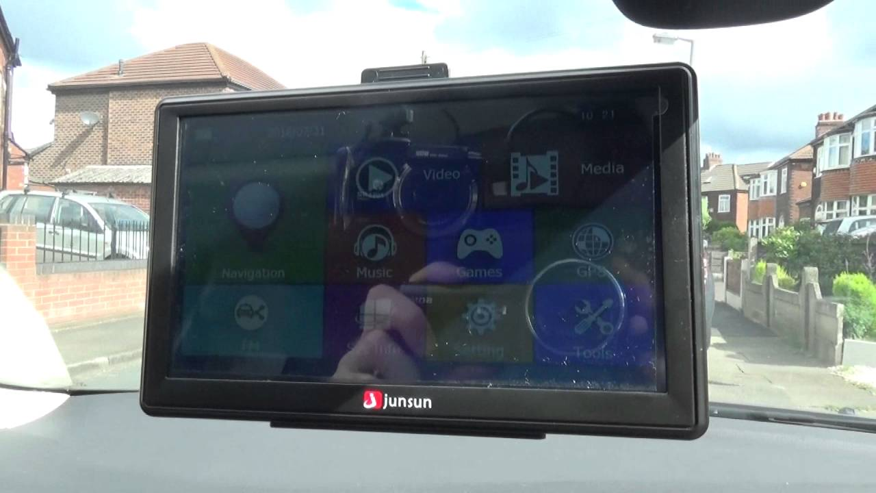 junsun 7 inch gps sat nav tablet review youtube. Black Bedroom Furniture Sets. Home Design Ideas