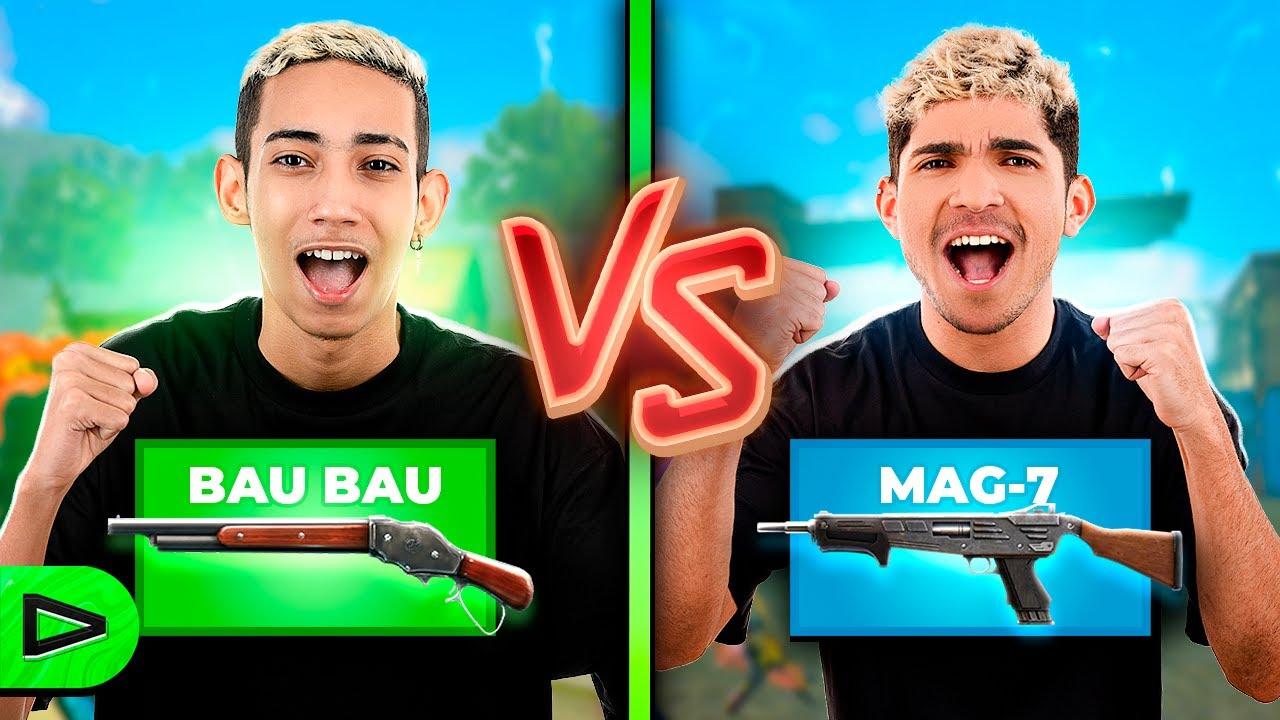QUAL É A ARMA MAIS APELONA? MAG-7 VS BAUBAU!