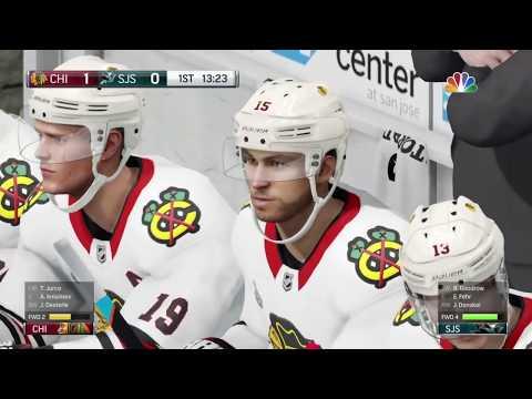 NHL 18 San Jose Sharks vs Chicago Blackhawks game 1