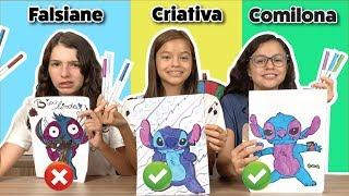 DESENHANDO E COLORINDO COM 3 CORES NA ESCOLA!!