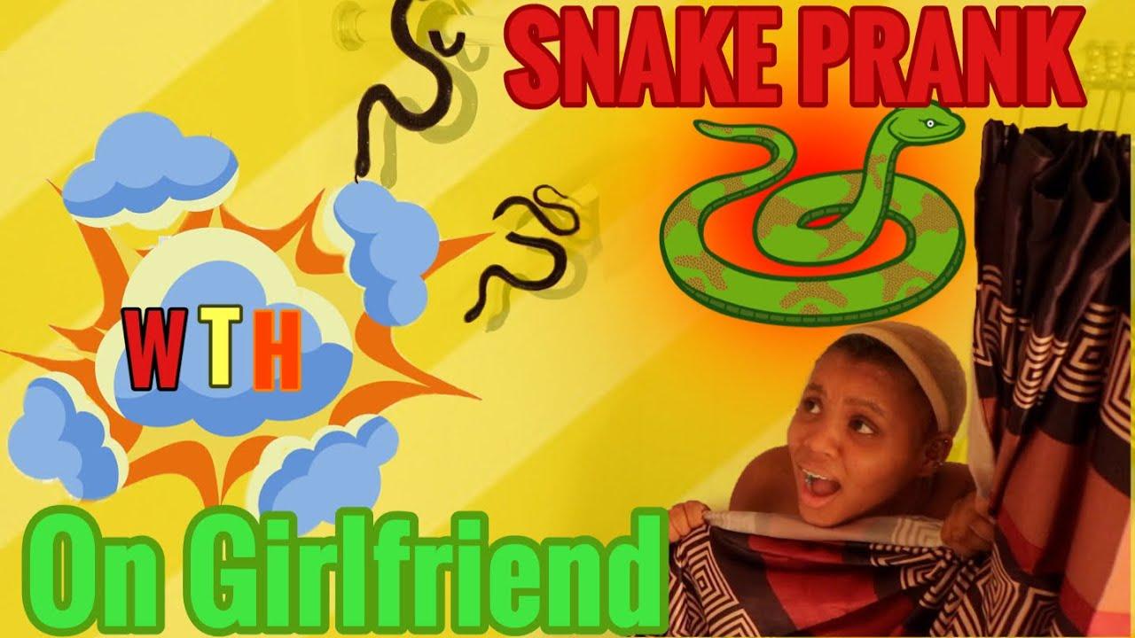 Snake In The Shower PRANK On Girlfriend 🐍🤣 She's 🤬 - YouTube