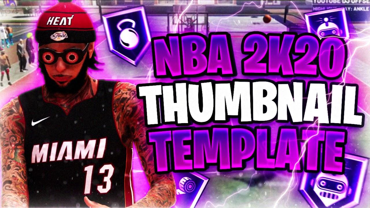 FREE NBA2k20 Thumbnail Template 🍇
