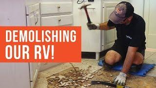 Demolishing Our RV | RVLOVE's Ultimate RV Makeover (Ep 3) | DIY RV Renovation