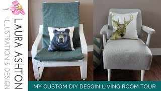 My D.I.Y Living Room Tour | Illustration and Home Decor