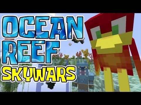 I WAS SOO CLOSE !! - - OCEAN REEF - - SKYWARS - - Minecraft Xbox