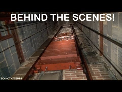 Behind The Scenes Look At A 1954 OTIS Elevator (Elevator Ride Machine Room Tour And Car Top Ride)