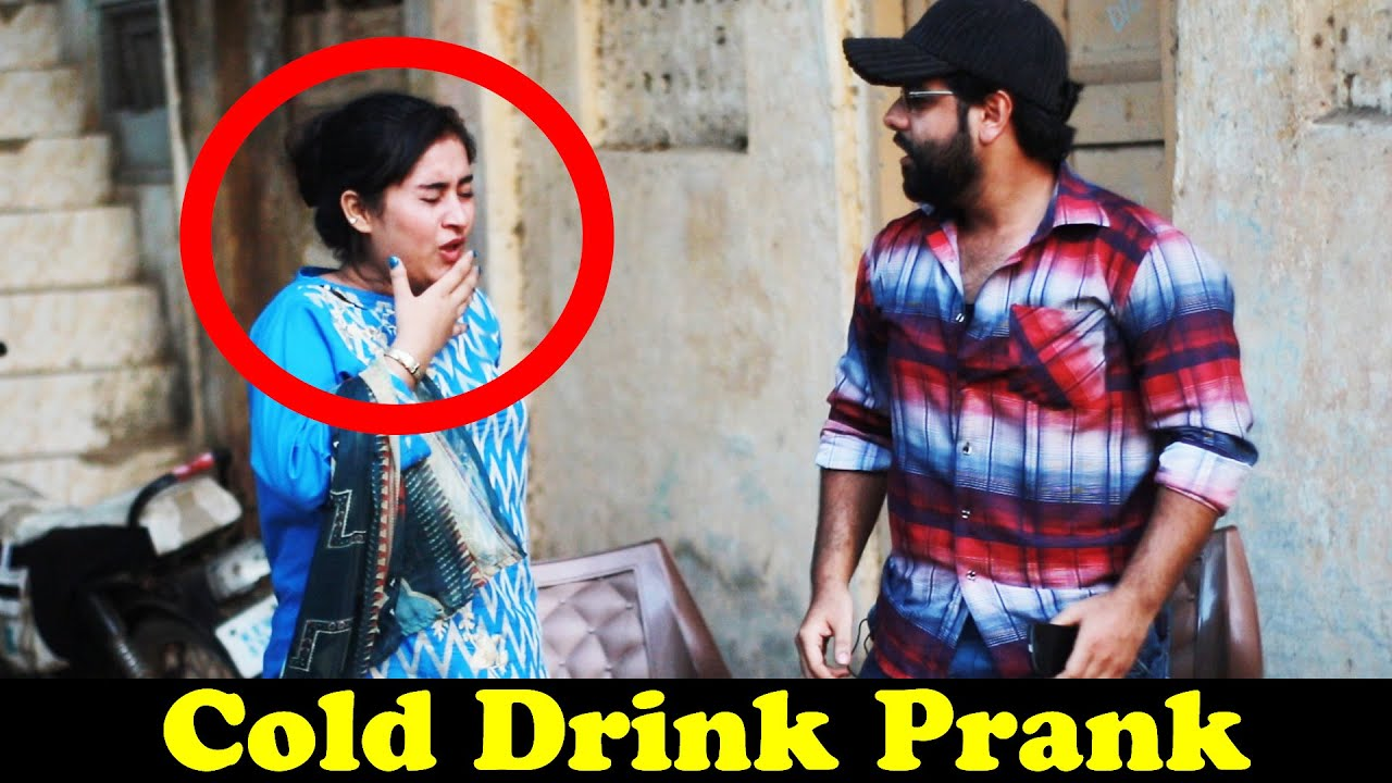 Cold Drink Prank On Girl | Pranks In Pakistan | Humanitarians
