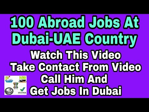 100 Abroad Jobs at Dubai-UAE, Urgent interview date in Mumbai only, Contact soon Mr. Sanjay Sir