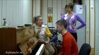 Урок вокала. Джазовое упражнение-распевка. Регистры, приёмы, акценты.Включение диафрагмы