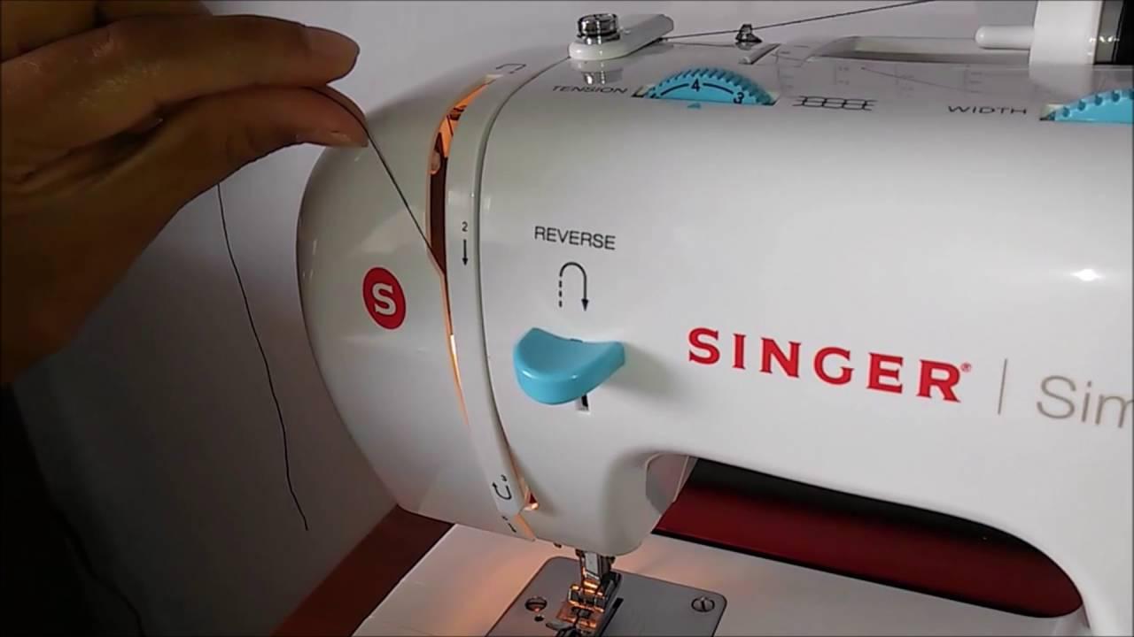 como enhebrar una maquina de coser y enrrollar o devanado