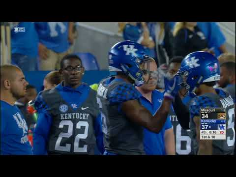 Kentucky vs Missouri NCAA Football Highlights 2017