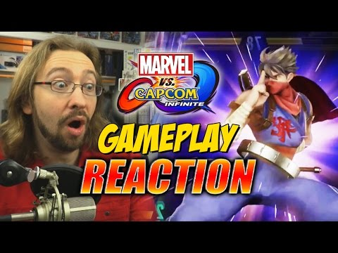MAX REACTS: Marvel Vs. Capcom Infinite NEW Gameplay & Supers