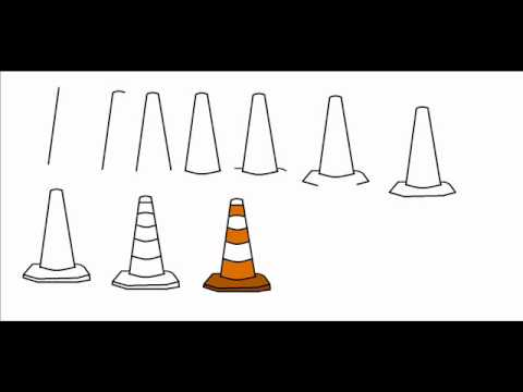 How To Draw A Traffic Cone Step By Step Drawing Tutorial