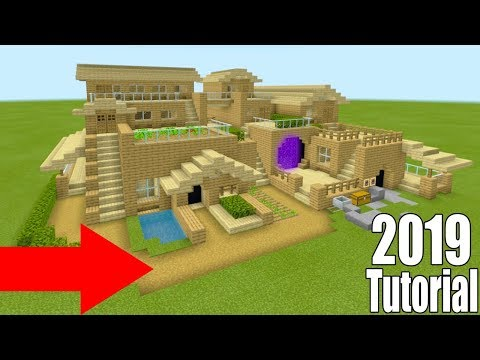 """Minecraft Tutorial: How To Make A Ultimate Wooden Survival Base 2 """"2019 Tutorial"""""""