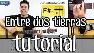 hroes del silencio guitarra acordes de entre dos tierras tutorial completo acustico acstica