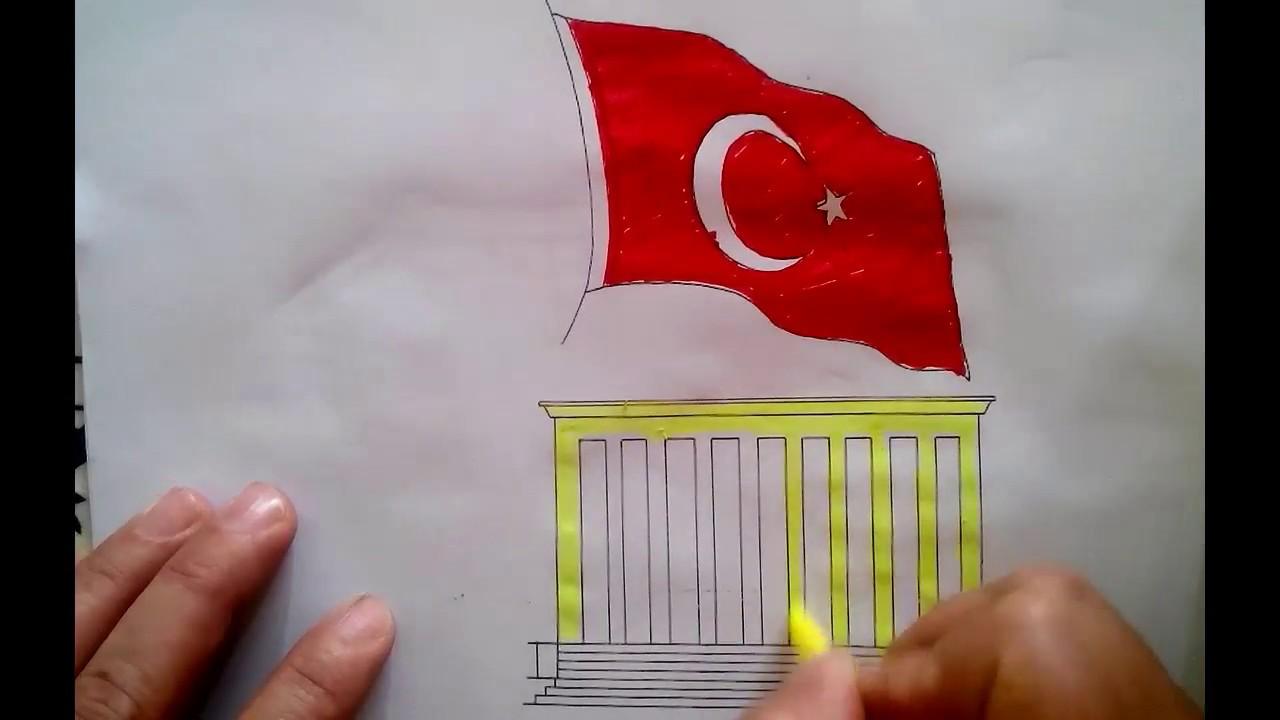 10 Kasima özel Atatürk çiz Ve Boya çocuklar Için Youtube