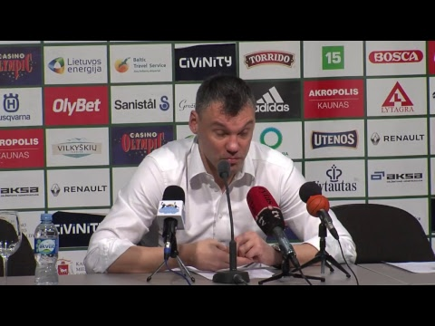 """Kauno """"Žalgiris"""" – Vilniaus """"Lietuvos rytas"""" spaudos konferencija"""