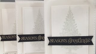 Simple Elegant Christmas Cards with Vellum-Papertemptress
