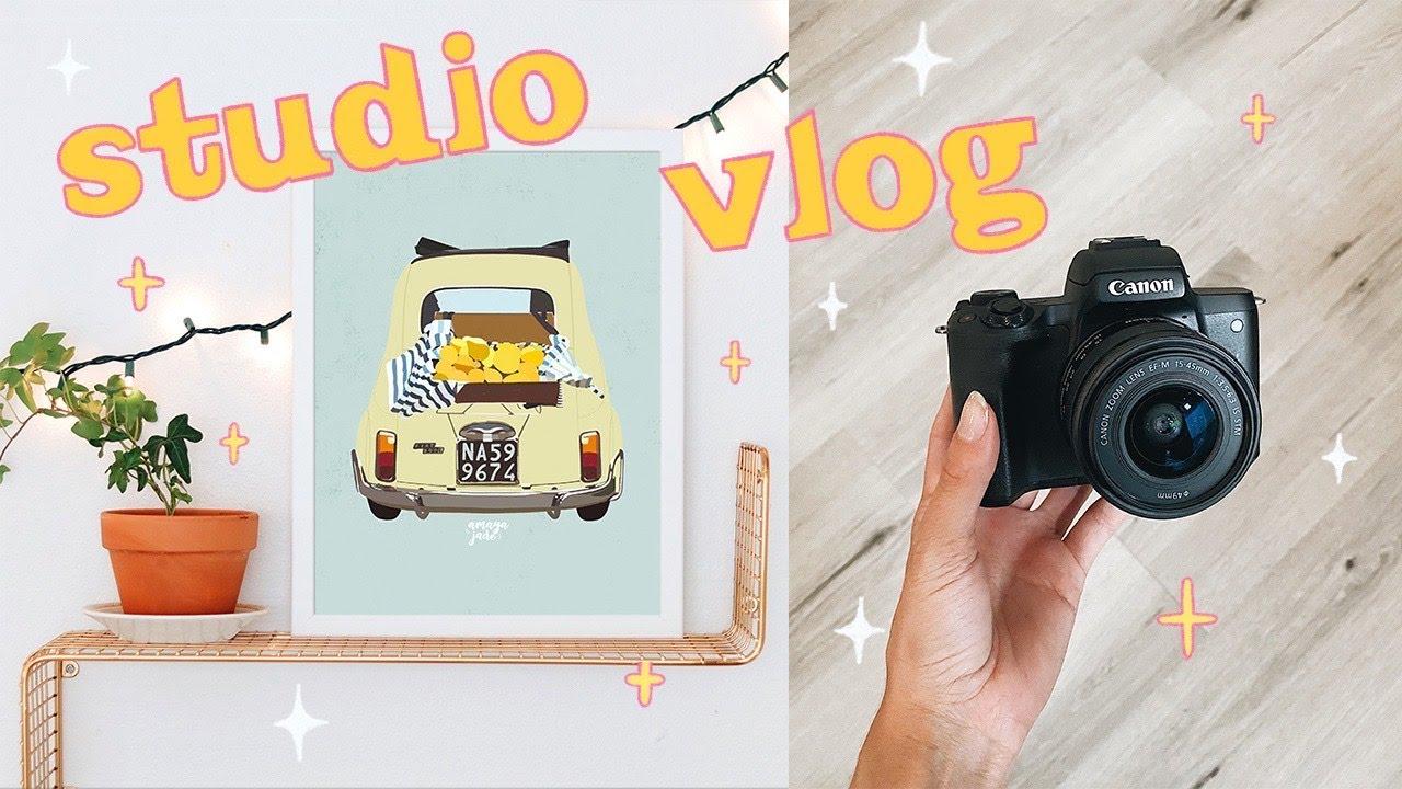 ✨STUDIO VLOG 05✨ lots of filming & painting