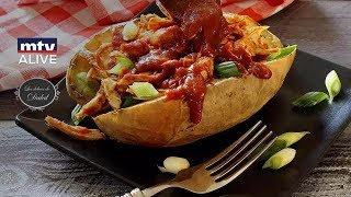 How to prepare the chicken stuffed baked potato