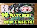 SWEET WINS!! NEW TICKETS! 5X $5 Holiday Greetings! ✦ TEXAS LOTTERY Scratch Off Tickets
